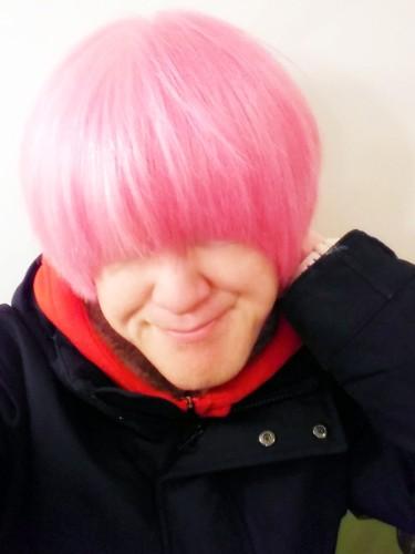 アルビノ ピンク頭