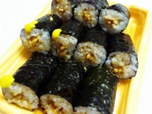 納豆細巻+ごま油