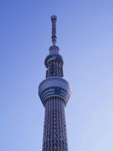 東京スカイツリーの上の方