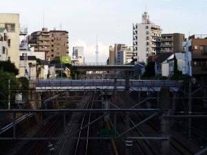 池袋から見える東京スカイツリー