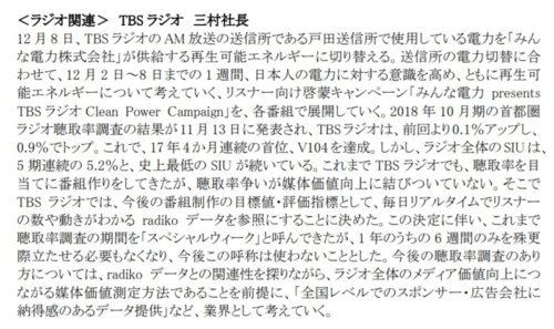 2018年:ニュースリリース | TBSテレビ 11月社長定例記者会見概要 (2018.11.28)