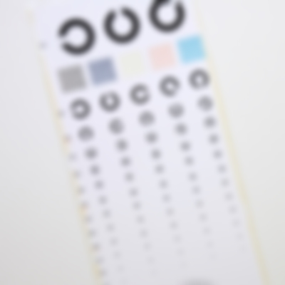 視力検査のピンぼけ